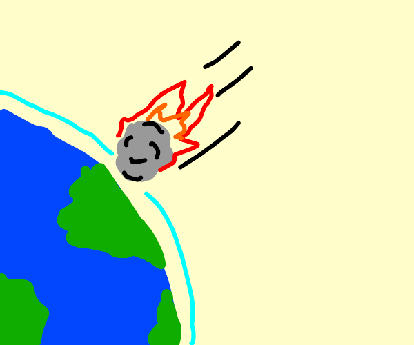 Asteroid entering the atmosphere