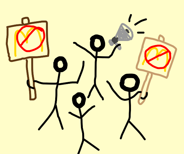 Anti-McDonalds Protest