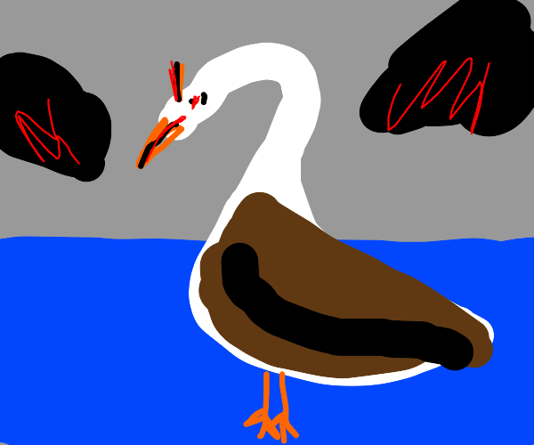 Very angry goose