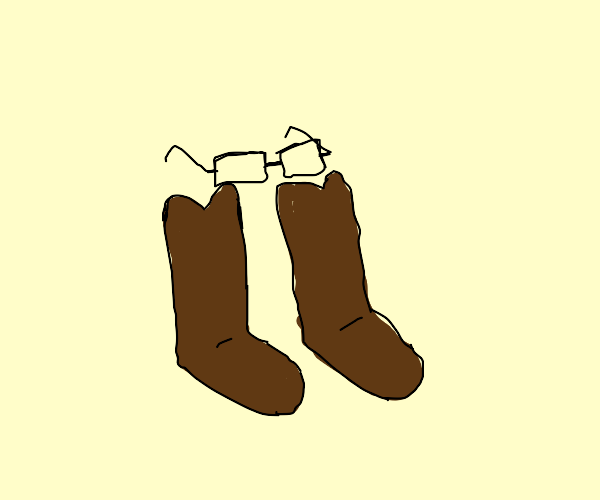 Glasses in boots