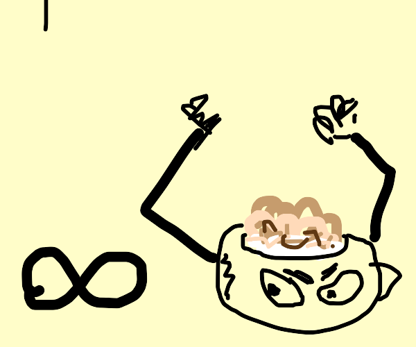 Bowl of cereal angry at infinity