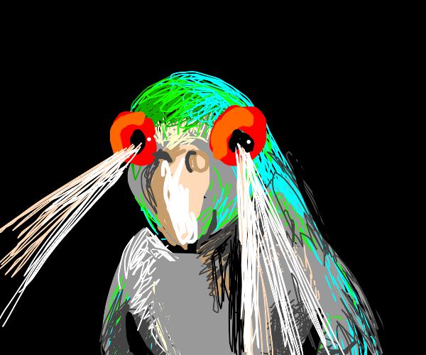 Bird with laser vision