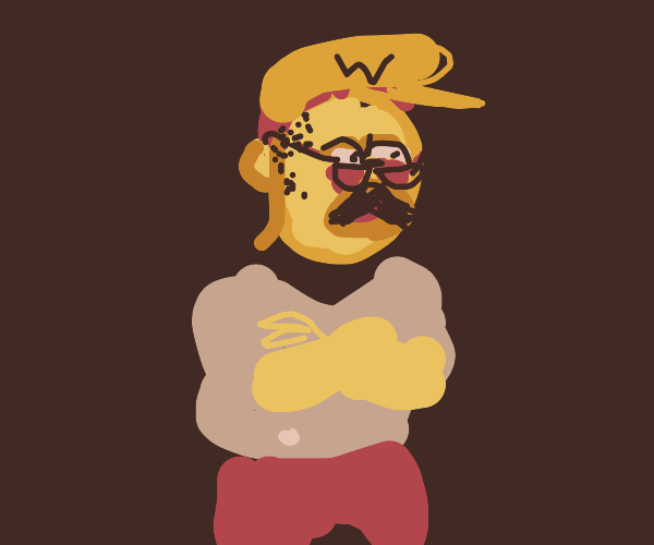Homer's dad as Wario