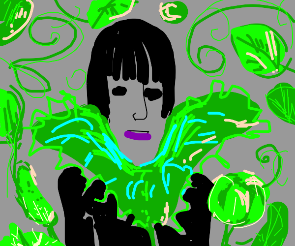 Audience astounded by emo girl's greens