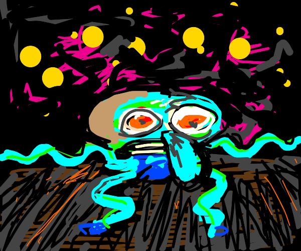 squidward is breaking it down