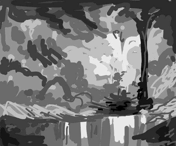 Bob Ross landscape painting