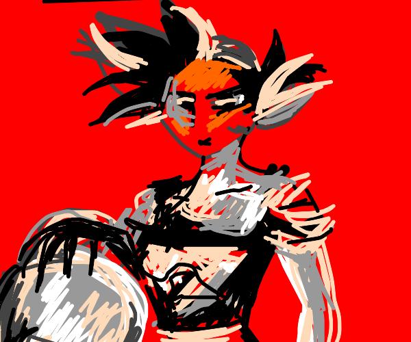 Lady goku with dragon ball