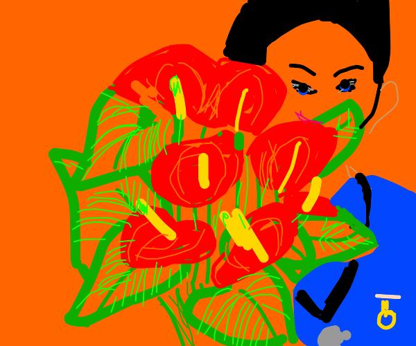 Nurse likes the house plant