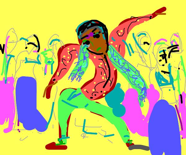 Young Indian guy rocking the dancefloor
