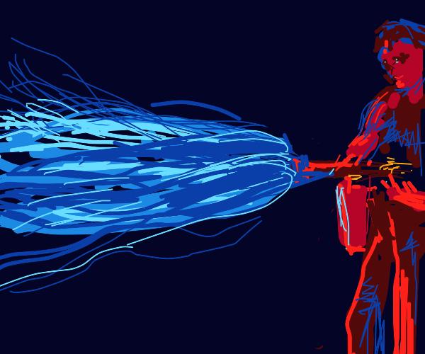A Blue Flamethrower
