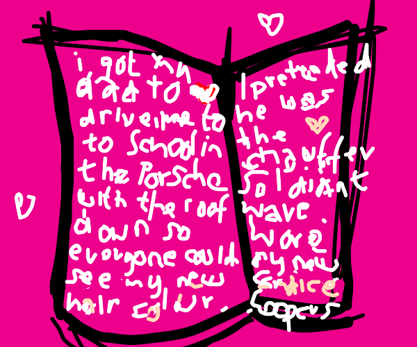 very edgy 11 year old girls diary