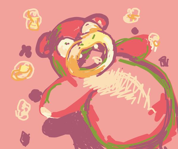 Slowpoke, but it has popcorn