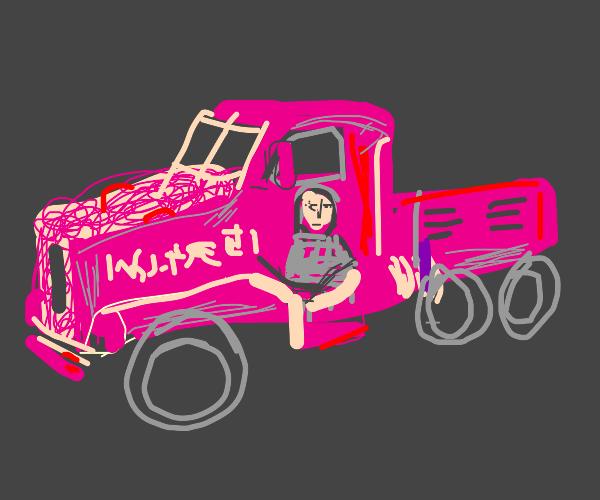 your senpai blushing garbage truck
