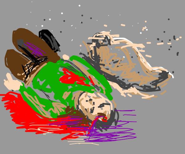 A man dies