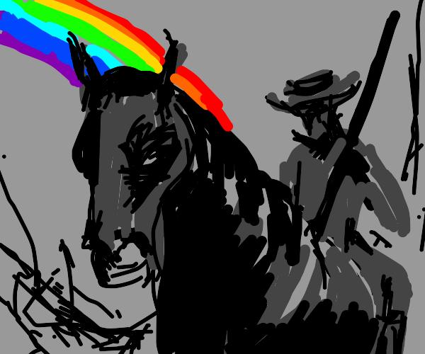 rainbow gunslinger horse oc