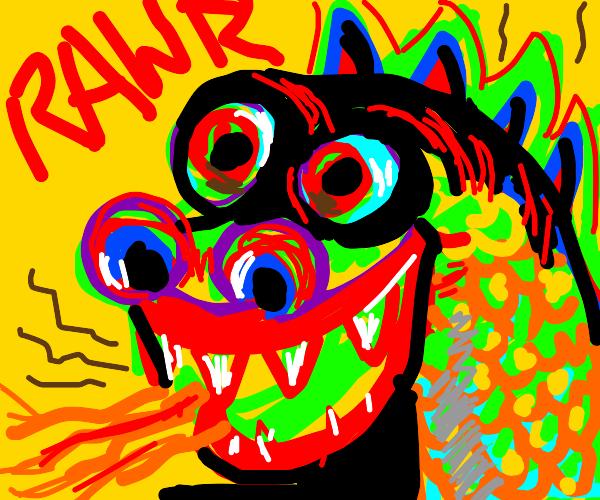dragon say rawr and smell
