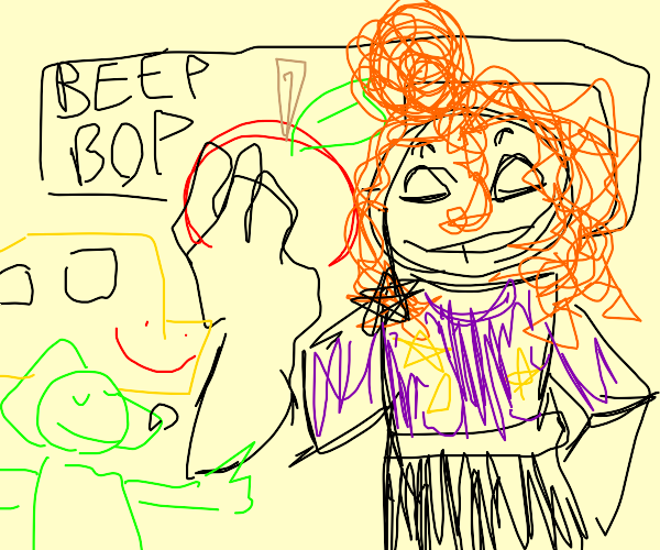 ms frizzle says beep bop and loves apples