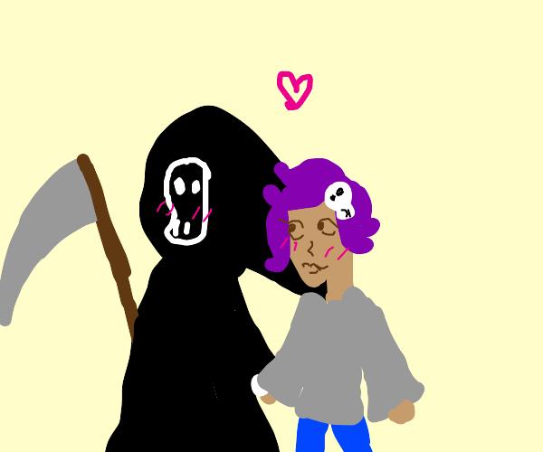 Grim Reaper with his Girlfriend (UwU)
