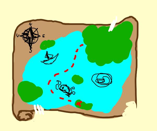 A pirate's treasure map