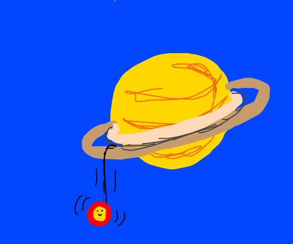 Yoyo rolls inside Saturns rings