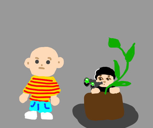 Caillou is being spied on