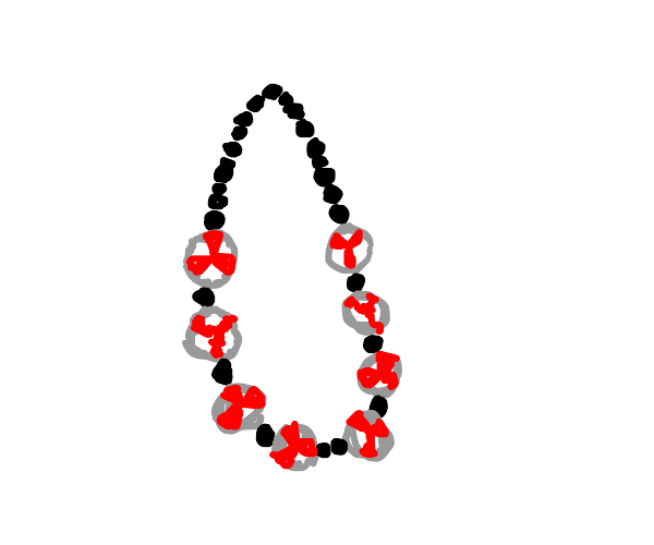 Necklace made out of peppermint candy