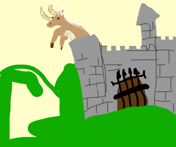 Elk in a Castle