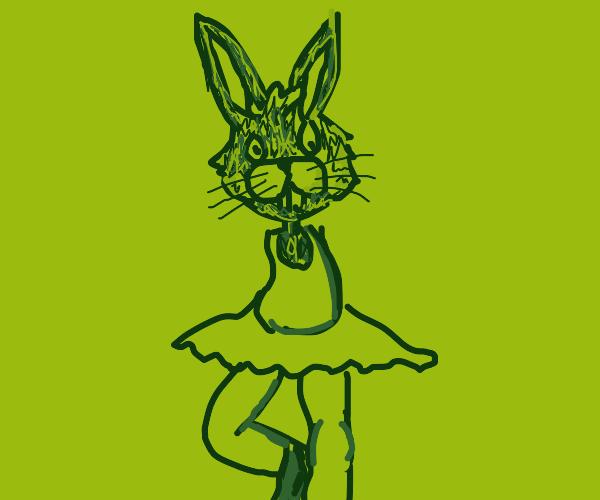 Armless green dancer bunny