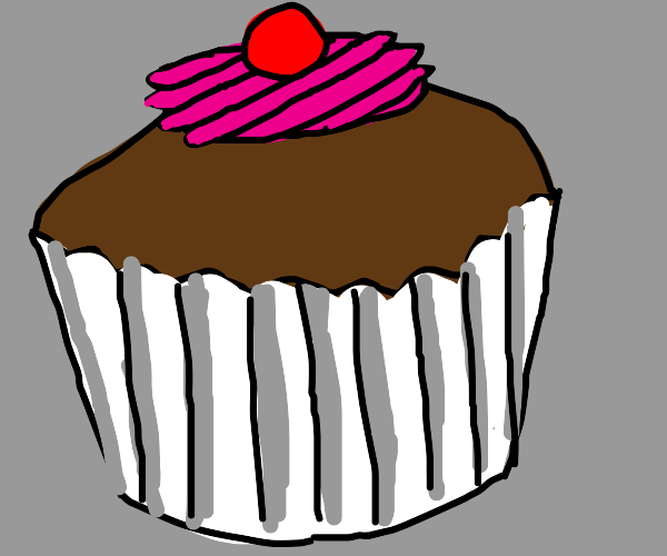 choclate cupcake with cherry on top
