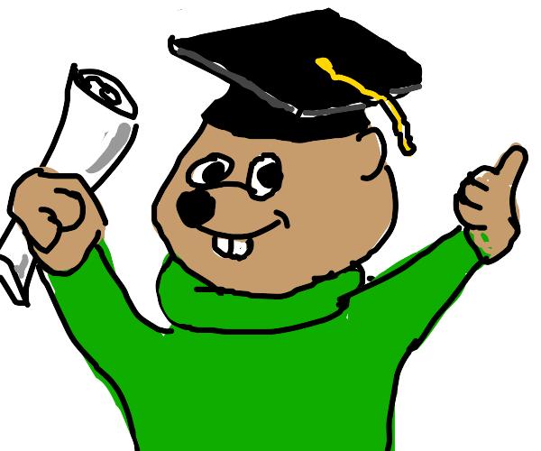 Chipmunk graduating