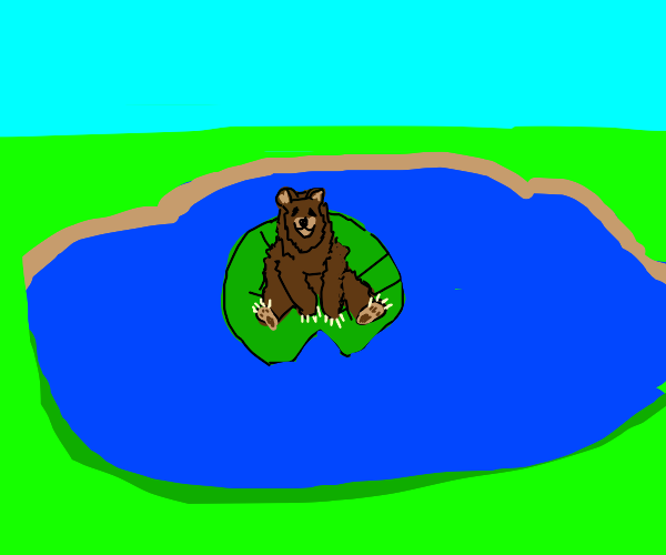 bear wants to be a frog