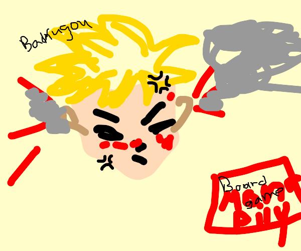 Bakugou raging over boardgame