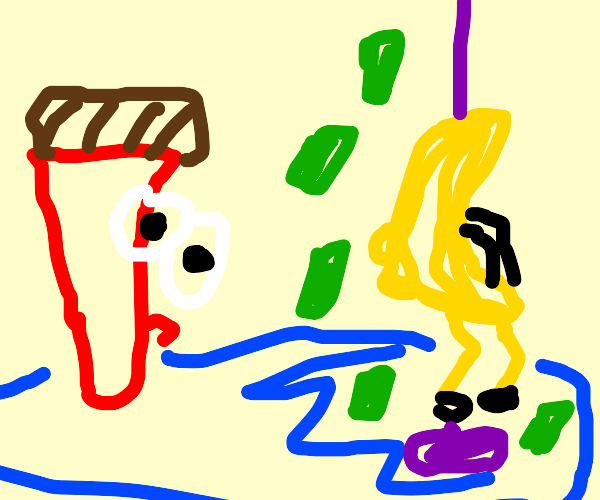 paintbrush cant keep his eyes off cute banana