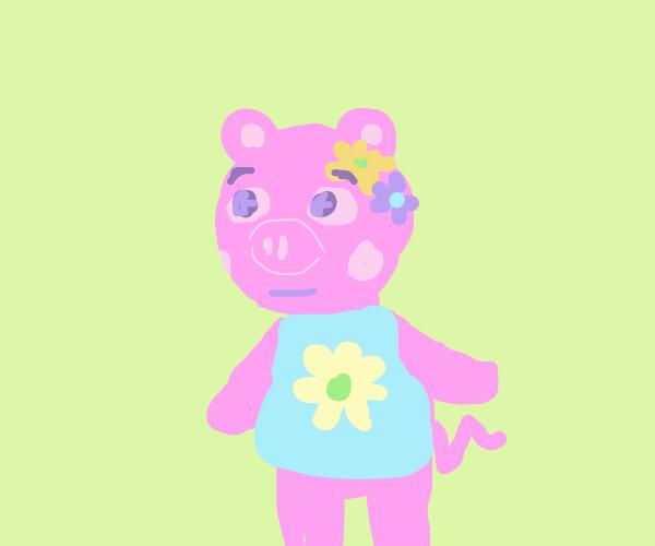 Cute Animal Crossing pig