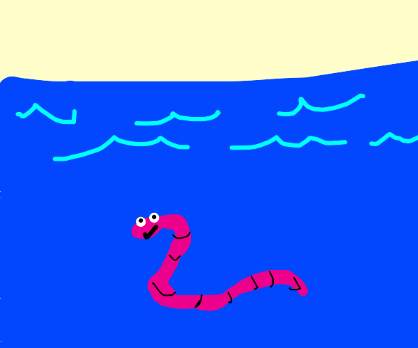 Wormy in Sea