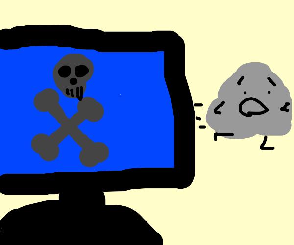 Rock escapes blue screen of death