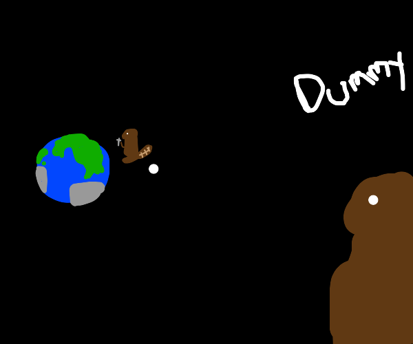 beavers judging other beaver building earth