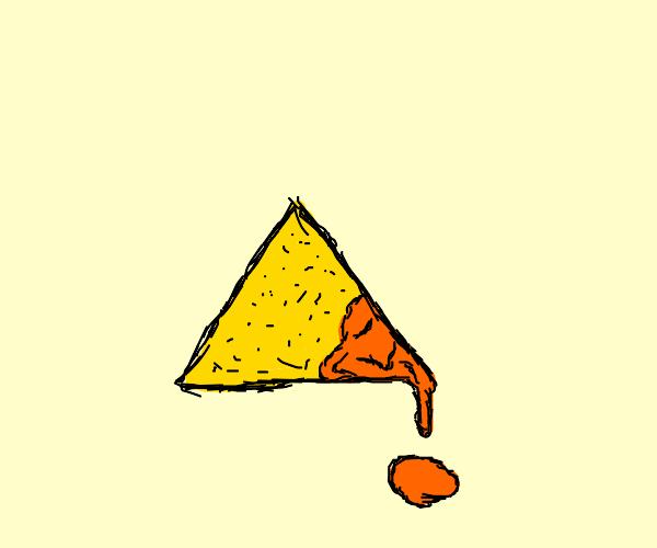 very cheesy dorito