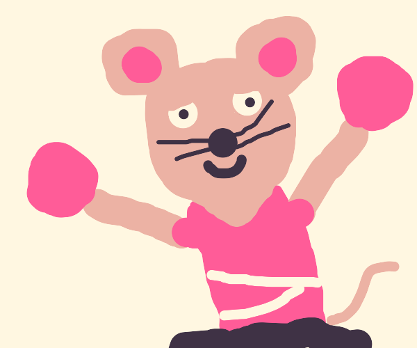 Mouse cheerleader