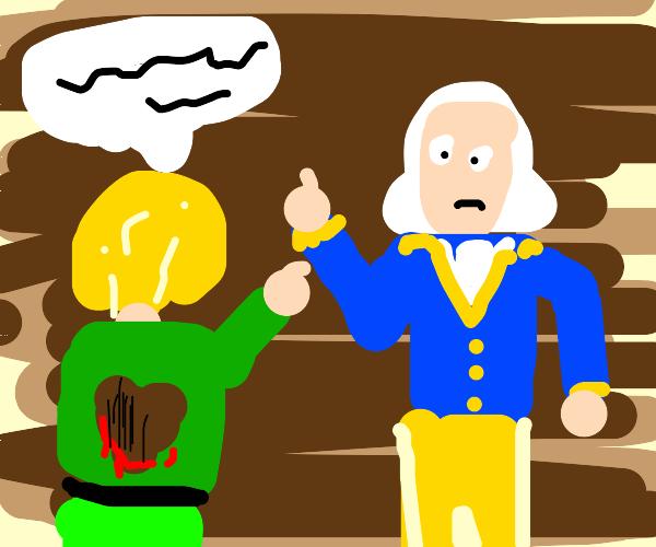 Heartless man slanders George Washington