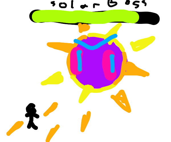 Evil purple solar boss