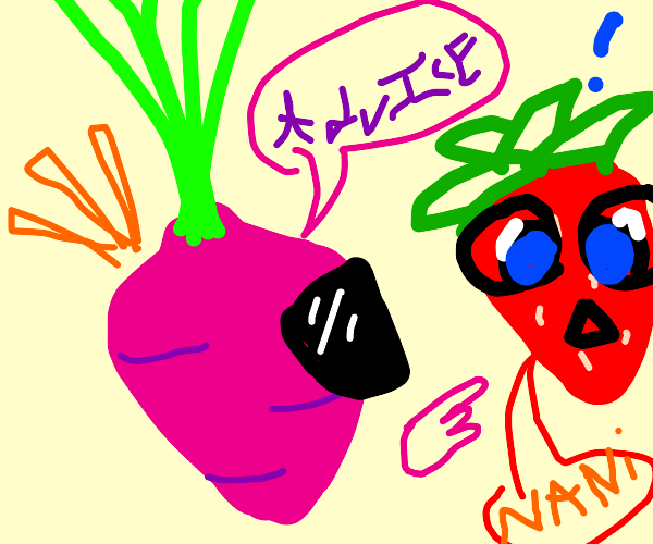 Cool Radish gives advice to Carrot