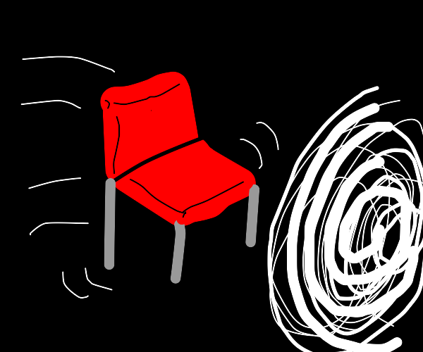 Red chair gets sucked into the void
