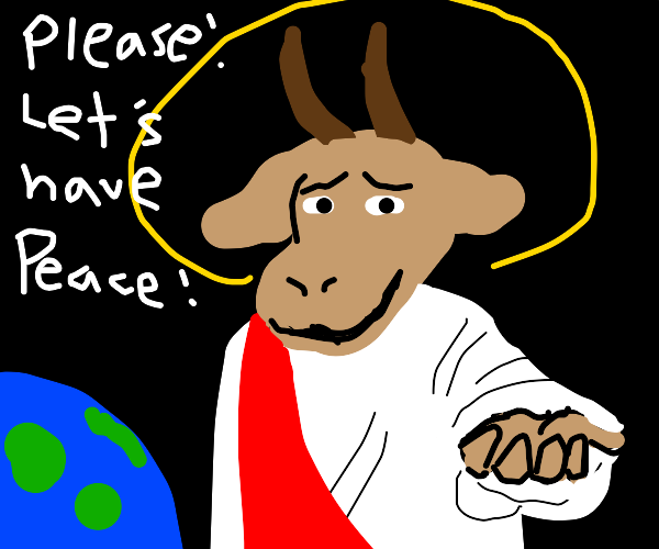 wholesome goat wishes for world peace