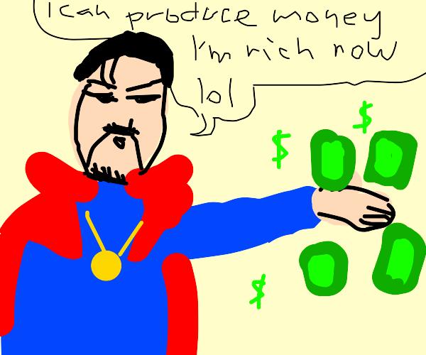 dr strange with money powers