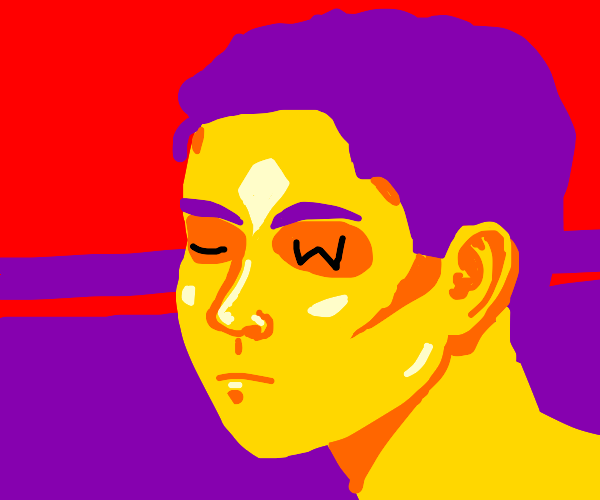 Yellow man with a W eye