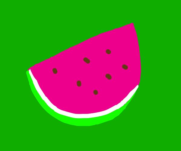 A wedge of watermelon. Yum!