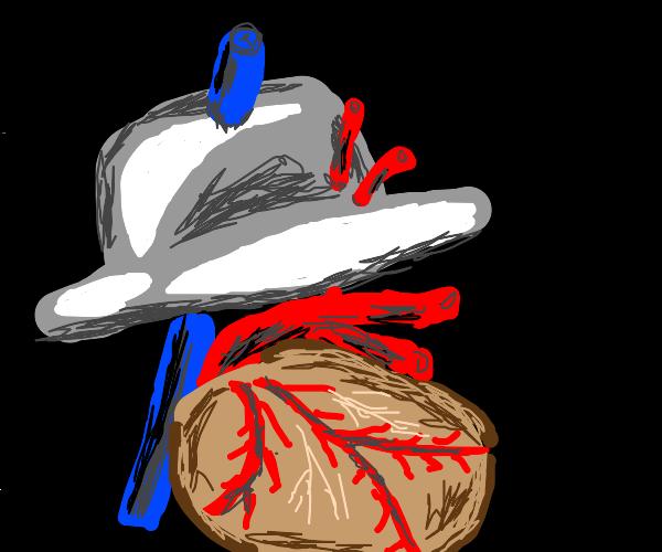 Heart wearing a Hat