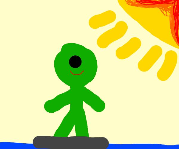 Surfing Alien