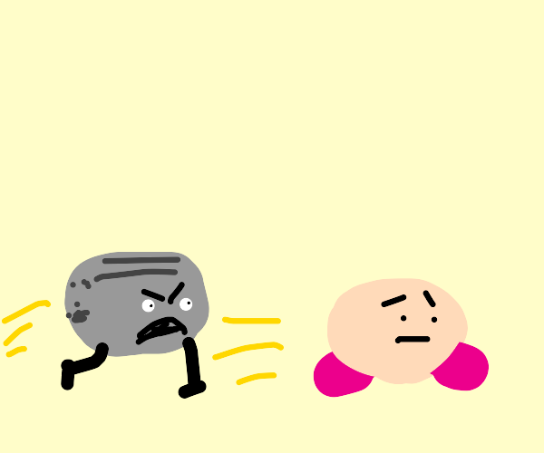 aggressive toaster w legs hunts kirby